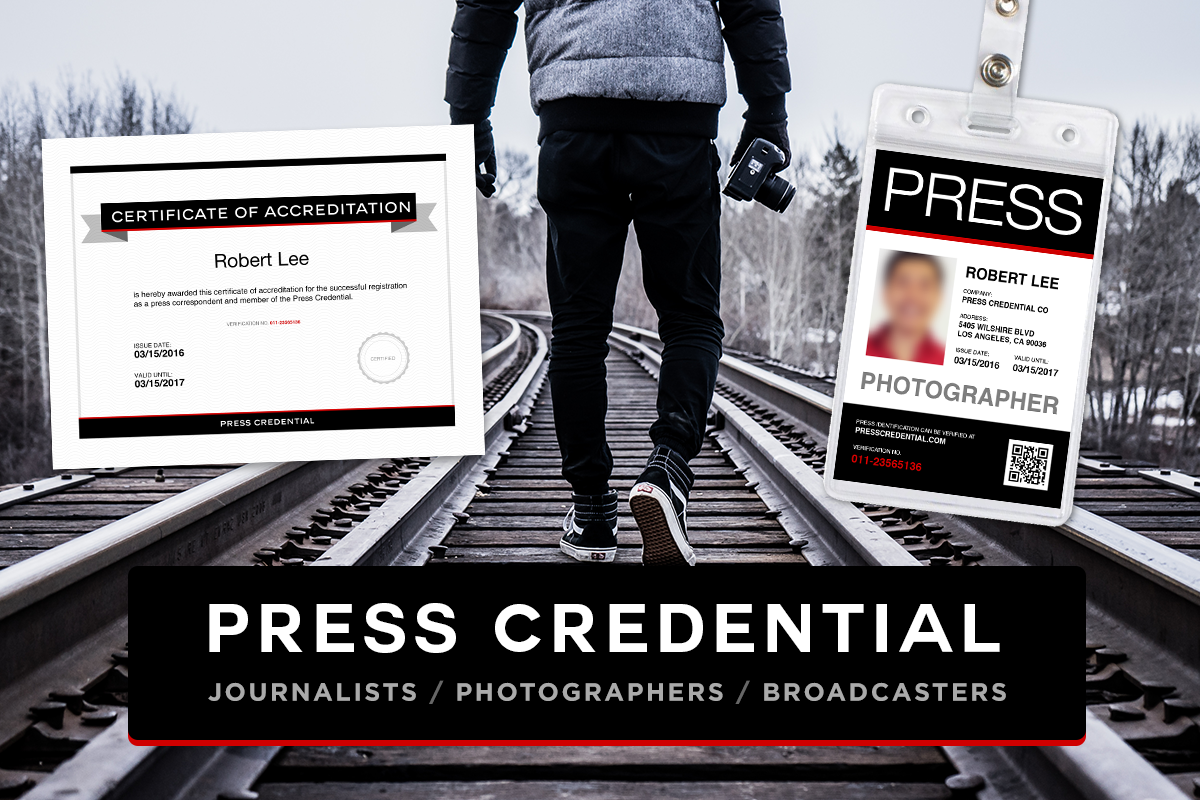 Press Pass and Press Credential
