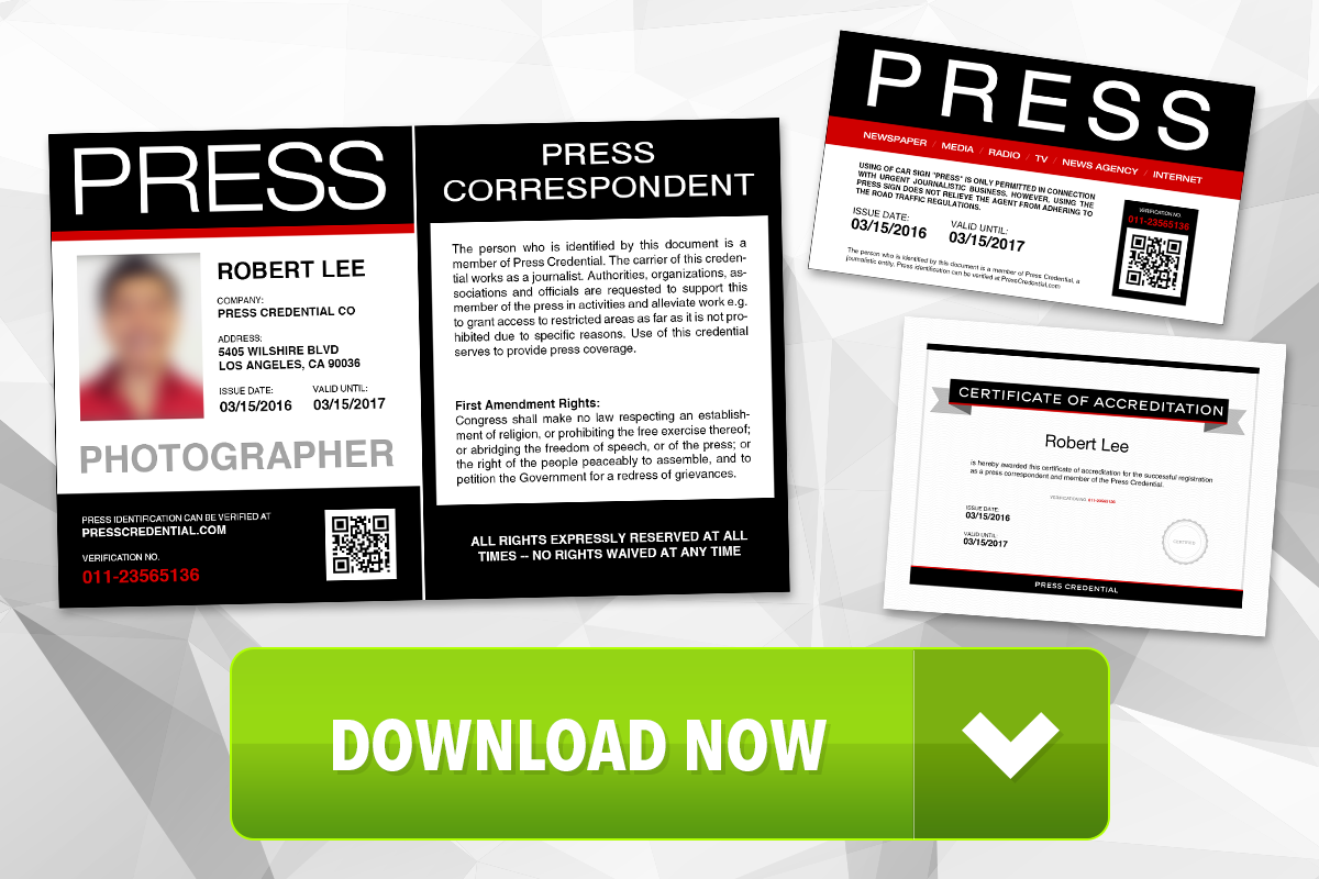 Free Press Pass Template