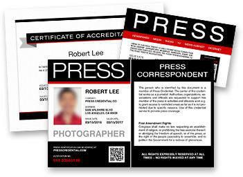 Press pass template for Media press pass template